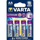 Varta Professional FR6 Lithium AA Mignon Batterie 1.5 V 4er Pack