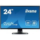 """23,6"""" (59,94cm) iiyama X2481HS-B1 schwarz 1920x1080 1xDVI / 1xHDMI 1.3 / 1xVGA"""