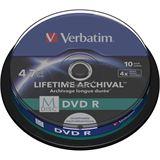 Verbatim M-DISC 4.7 GB bedruckbar 10er Spindel (43824)