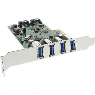 InLine 76664C 6 Port PCIe inkl. Low Profile Slotblech / Low Profile
