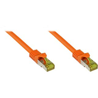 (€0,74*/1m) 50.00m Good Connections Cat. 7 Patchkabel S/FTP PiMF RJ45 Stecker auf RJ45 Stecker Orange halogenfrei/vergoldet