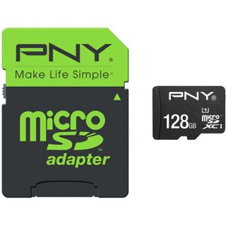128 GB PNY High Performance microSDXC Class 10 Retail inkl. Adapter