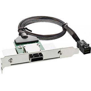 InLine SAS HD Slotblech PCI + 50p Centr., mit Kabel, ext. SFF-8088 auf int. SFF-8643, 0,5m