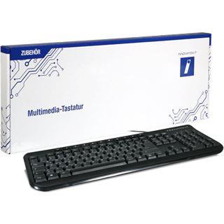 Innovation IT Multimedia Tastatur USB Deutsch schwarz (kabelgebunden)