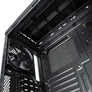 anidees AI6V2 Silent gedämmt Midi Tower ohne Netzteil schwarz