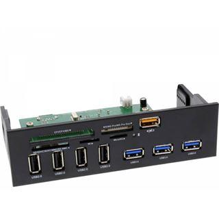 InLine Frontpanel für den DVD-Schacht Cardreader USB 3.0/USB 2.0/USB Ladebuchse
