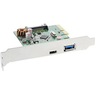InLine 76660A 2 Port PCIe 2.0 x4 inkl. Low Profile Slotblech / Low