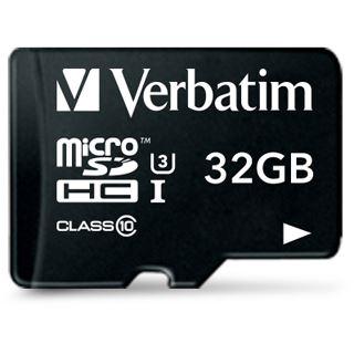32 GB Verbatim 47041 microSDHC Class 10 Retail inkl. Adapter