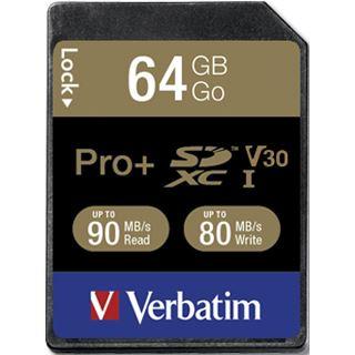 64 GB Verbatim Pro+ SDHC 600x Class 10 U1 Retail