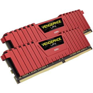 16GB Corsair Vengeance LPX rot DDR4-2666 DIMM CL16 Dual Kit