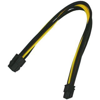 Nanoxia 6-Pin PCI-E Verlängerung 30 cm schwarz/gelb