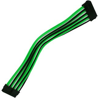 Nanoxia 24-Pin ATX-Verlängerung 30 cm grün/weiß/schwarz