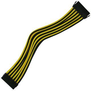 Nanoxia 24-Pin ATX-Verlängerung 30 cm schwarz/gelb