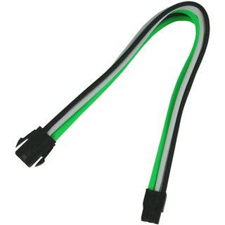 Nanoxia 6-Pin PCI-E Verlängerung 30 cm grün/weiß/schwarz