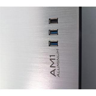 Inter-Tech AM1 Mini Tower ohne Netzteil Alu silber
