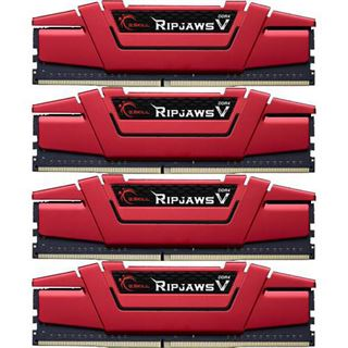 32GB G.Skill RipJaws V rot DDR4-2400 DIMM CL15 Quad Kit