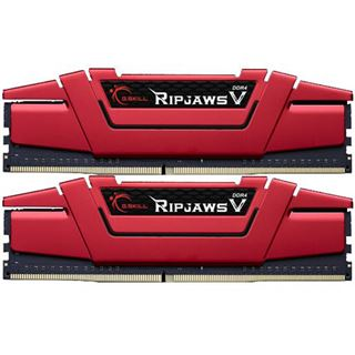 16GB G.Skill RipJaws V rot DDR4-2666 DIMM CL15 Dual Kit