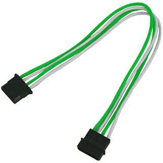Nanoxia 30cm 4-Pin Molex Verlängerung grün/weiß