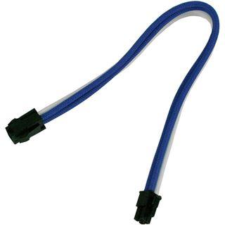 Nanoxia 30cm 4-Pin P4 Verlängerung blau/weiß