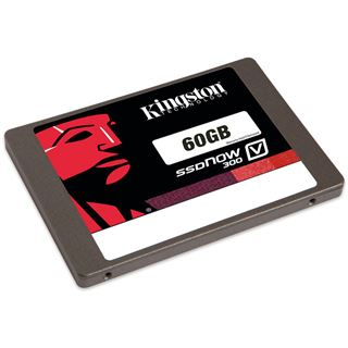 "60GB Kingston SSDNow V300 2.5"" (6.4cm) SATA 6Gb/s MLC asynchron (SV300S37A/60BK)"