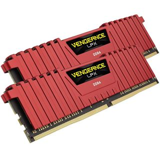 8GB Corsair Vengeance LPX rot DDR4-2133 DIMM CL13 Dual Kit