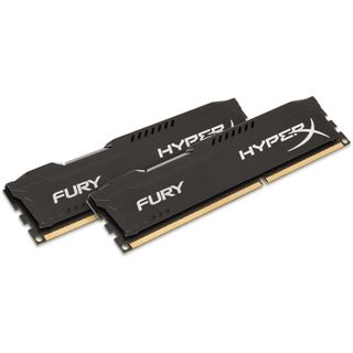 16GB HyperX FURY schwarz DDR3L-1600 DIMM CL10 Dual Kit