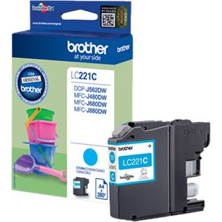 Brother Tinte LC221C LC221C cyan