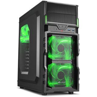 Sharkoon VG5-W grün Midi Tower ohne Netzteil schwarz