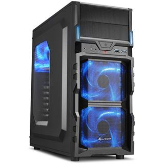 Sharkoon VG5-W mit Sichtfenster Midi Tower ohne Netzteil blau