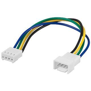 Good Connections Lüfter Verlängerungskabel 4 pol Stecker an 4 pol Kupplung 15cm