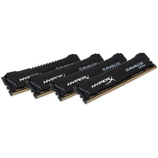 32GB HyperX Savage schwarz DDR4-2133 DIMM CL13 Quad Kit