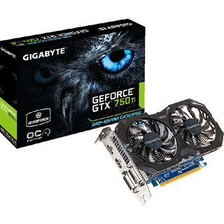 2GB Gigabyte GeForce GTX 750 Ti Windforce 2X OC Aktiv PCIe 3.0 x16 (Retail)
