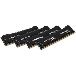 32GB HyperX Savage schwarz DDR4-2800 DIMM CL14 Quad Kit