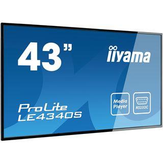 "43"" (109,22cm) iiyama ProLite LE4340S-B1 schwarz 1920x1080 1xDVI"