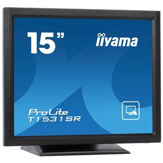 "15"" (38,10cm) iiyama ProLite T1531SR-B1 Touch schwarz 1024x768 1xDVI / 1xVGA"