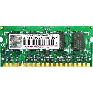 1GB Transcend TS128MSQ64V6U DDR2-667 SO-DIMM CL5 Single