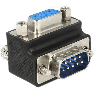 DeLOCK Adapter D-Sub 9Pin Stecker auf Buchse 270° gewinkelt