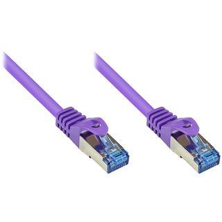 (€0,76*/1m) 25.00m Good Connections Cat. 6a Patchkabel S/FTP PiMF RJ45 Stecker auf RJ45 Stecker Violett halogenfrei/Rastnasenschutz