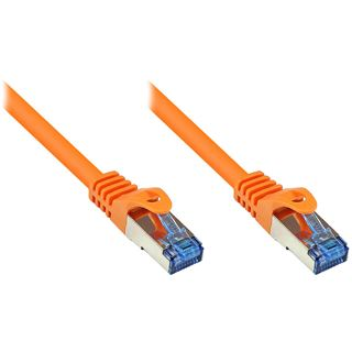 (€0,73*/1m) 30.00m Good Connections Cat. 6a Patchkabel S/FTP PiMF RJ45 Stecker auf RJ45 Stecker Orange halogenfrei/Rastnasenschutz