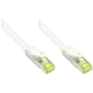 (€0,77*/1m) 70.00m Good Connections Cat. 7 Patchkabel S/FTP PiMF RJ45 Stecker auf RJ45 Stecker Weiß halogenfrei/Rastnasenschutz/vergoldet