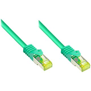 (€3,27*/1m) 1.50m Good Connections Cat. 7 Patchkabel S/FTP PiMF RJ45 Stecker auf RJ45 Stecker Grün halogenfrei/Rastnasenschutz/vergoldet