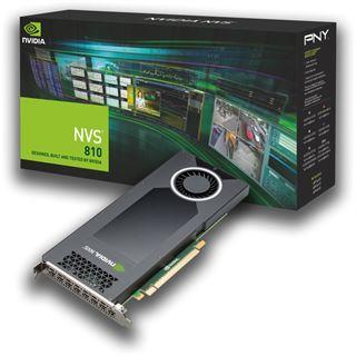 4GB PNY Quadro NVS 810 DP Aktiv PCIe 3.0 x16 (Retail)