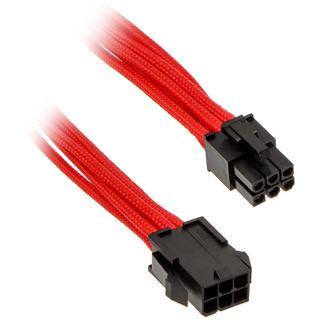 Phanteks 6 Pin PCIe Verlängerung 50cm sleeved rot