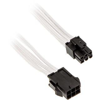 Phanteks 6 Pin PCIe Verlängerung 50cm sleeved weiß