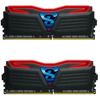16GB GeIL Super Luce schwarz LED rot DDR4-3000 DIMM CL15 Dual Kit
