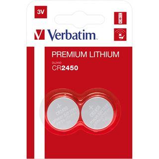 Verbatim Lithium Knopfzelle CR2450 2er Pack