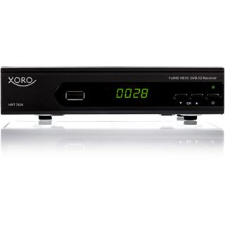 Xoro HRT 7620, HD DVB-T/T2 Receiver, HEVC, PVR-Ready, schwarz