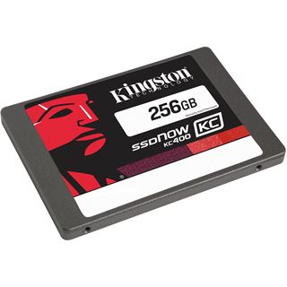 "256GB Kingston SSDNow KC400 2.5"" (6.4cm) SATA 6Gb/s MLC (SKC400S37/256G)"