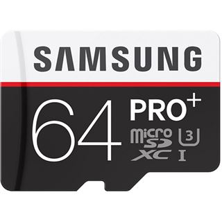 64 GB Samsung Pro Plus microSDXC Class 10 U3 Retail inkl. Adapter auf