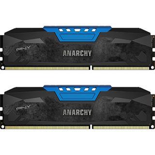 16GB PNY Anarchy blau DDR3-1866 DIMM CL10 Dual Kit